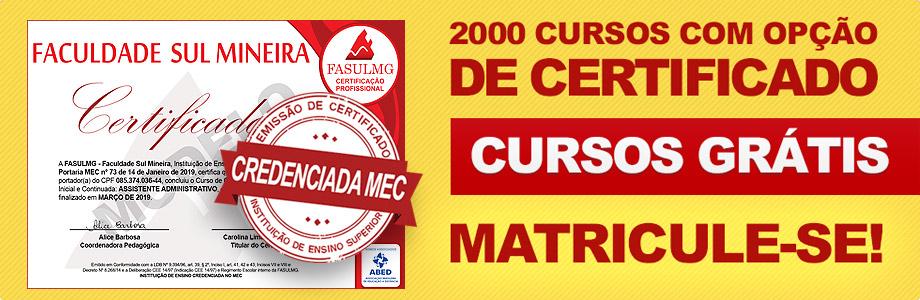 2.000 Cursos Grátis com Certificado